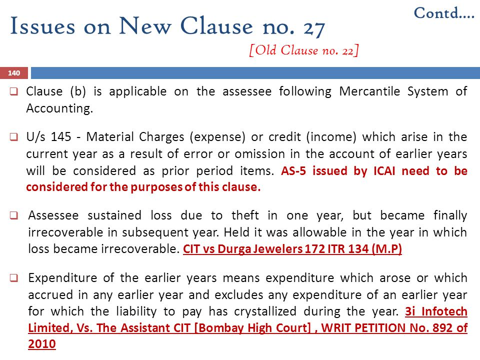 Issues on New Clause no. 27 [Old Clause no. 22]